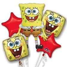 Spongebob Squarepants Birthday Party Supplies Foil 5pcs Balloons Bouquet