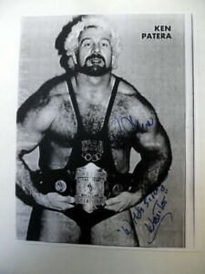 KEN PATERA Autographed COPY PAGE 70's Wrestler WEIGHTLIFTER WWF Strongman PC1818