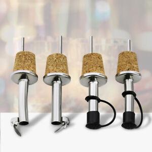 Kitchen Plug With Cover Wine Pourer Oil Dispenser Bottle Stopper Wooden Cork