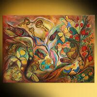 Blessing of three keys spiritual Jewish art figurative painting Elena Kotliarker