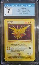 Zapdos 15/62 Fossil Unlimited Holo Corrected Rare CGC 7 Near Mint Pokemon TCG