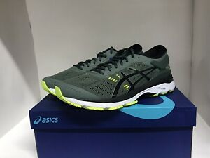 ASICS Gel-Kayano 24 Running Shoes, Dark Forest/Black/Yellow, MENS  9.5 M