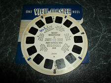 1 Vintage Sawyers Viewmaster Reel Woody Woodpecker in Pony Express Ride 1951