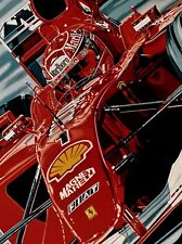 Michael Schumacher 90 x 70 cms limited edition F1 art print by Colin Carter