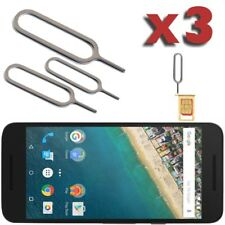 3 x Metal Sim Pin Ejector Card Removal Tray Opener Tool For LG G5 Nexus 5 5X