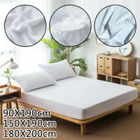Bed Sheet Cover Waterproof Dust Mattress Protector Bedspread Full/Queen/King