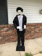 Life Size 6 Foot Halloween Greeter Undead Zombie Talking Figure party prop
