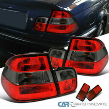 99-01 BMW E46 4Dr Sedan Red/Smoke Lens Parking Tail Lights Rear Brake Lamps Pair