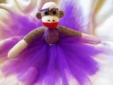 Sock Monkey Ballerina Doll - Starlight Sock Monkeys - Handmade