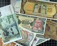 Bank Note lot of 10 World Foreign World Currency Latin America Europe Nicaragua