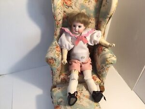 Antique Bisque Head Doll Marked 3. On Back Of Head - Needs TLC