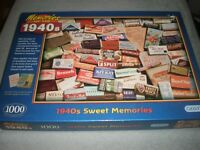 Gibsons MEMORIES OF THE 1940's - SWEETS 1000 Pieces Jigsaw Puzzle Food Chocolate