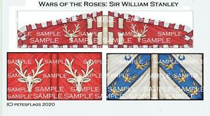 28mm Medieval Wars of the Roses Paper Flags Sir William Stanley