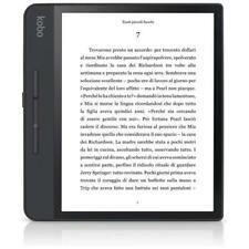 KOBO Lettore E-Book 8 Forma HD Touch Screen Impermeabile 8GB Wi-Fi Colore Nero