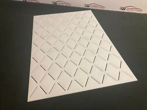 Car Upholstery - Trimming - stitch 65x105 diamond template 3mm clear acrylic.