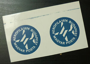 Poster Stamps - Cinderella - Hungary Budapest 1974 Aerophila Aviation Plane A15