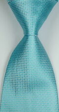 New Classic Pattern Weave Turquoise JACQUARD WOVEN Silk Men's Tie Necktie