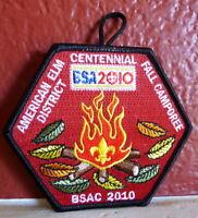 American Elm District Centennial Patch BSA 2010  BSAC Fall Camporee