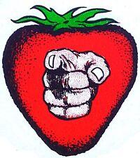 Original Vintage Strawberry Pointing Finger Iron On Transfer