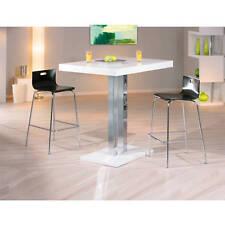 Bistrotisch Stehtisch weiß hochglanz Bartisch Hochtisch Küchentisch Tisch modern