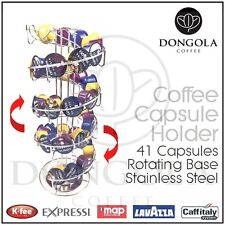 Spiral Rotating Coffee Capsule Pod Holder Stand Stainless Steel suit Expressi