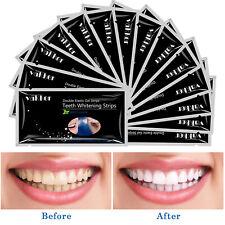 28pcs EZGO Activated Charcoal Dental Teeth Whitening Strips Bleaching Strips FDA