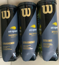 Pack of 3 Official Wilson Premium Us Open Tennis Balls Extra Duty Sealed 9 balls