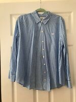 Women's Vineyard Vines Blouse  Size 10 Blue White Checked