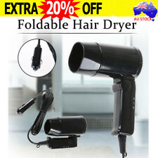 12V Foldable Car Hairdryer Hair Dryer Defroster Travel Accessory Portable S4