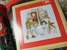 christmas geese scene cross stitch CHART PATTERN ONLY ch54
