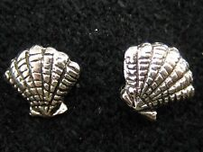Sea Shell Earrings - 925 Pure Silver, US SELLER, FREE Shipping, FAST Delivery