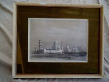 ANTIQUE 1849 DAVID ROBERTS TOMBS OF THE MEMLOOKS CAIRO PRINT FRAMED ORIENTALIST