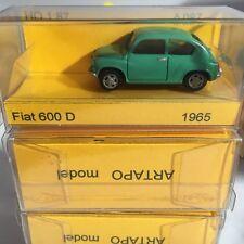 ARTAPO auto FIAT 600D berlina colore verde in HO 1/87