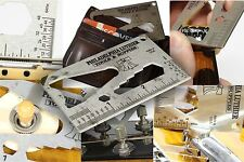 Guitar Pocket Multi Tool - string action gauge, multi spanner wrench, ruler