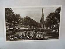 Vintage Rppc Sir Walter Scotts Monument & Gardens Edinburgh Scotland Unused