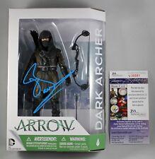 "JOHN BARROWMAN SIGNED DARK ARCHER 6"" FIGURE ARROW DC COLLECTIBLES AUTOGRAPH +JSA"