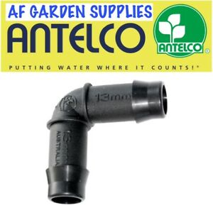 13mm Elbow Fitting / Connector Antelco Garden Irrigation Watering for LDPE Pipe