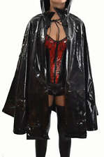 VINYL COSTUME VAMPIRE GOTHIC PVC VAMP COAT JACKET UNDERWORLD CAPE HALLOWEEN