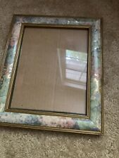 Vintage flowered 8 x 10 picture frame Free standing or wall Hanging. Beautiful!