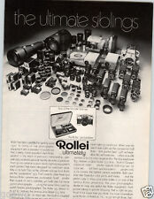 1972 PAPER AD Rollie Camera 35 MM Lens Projector Movie