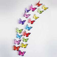 18/36pcs 3d Butterfly Wall Decal Removable Sticker Kids Art Nursery Decoration 2x Multi Color 03