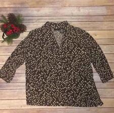 Womens Apostrophe Brand Brown 3/4 Length Sleeve Blouse 16/18