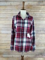 Nwt Junior So Small Perfect Shirt Red Plaid Long Sleeve Button Down