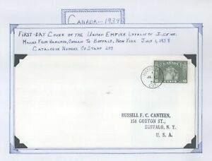 Canada #209 Loyalists Monument Hamilton Ontario First Day Cover! FDC
