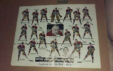 NHL CHICAGO BLACKHAWKS Team Picture 1949-50 Compliments Lorne Carr Scout