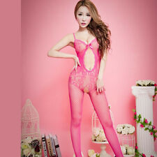 Sexy Mujer Trajes De Poliéster Transparente Net Media Body Pijama Dormir Vestido