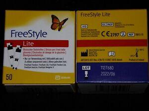 Abbott Freestyle Lite Teststreifen ohne Codiere 100 St 2022/06