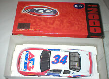 ACTION 2000 RCCA #34 CAR/BANK, AG GLASS, IN ORIGINAL BOX,  1/24 SCALE.