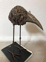🔥 Antique RARE Mid Century Modern Brutalist Metal Bird Sculpture - Daniel Gluck
