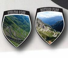 3x Stelvio European Mountain Pass & Others Shields Bike Pannier Car Stickers